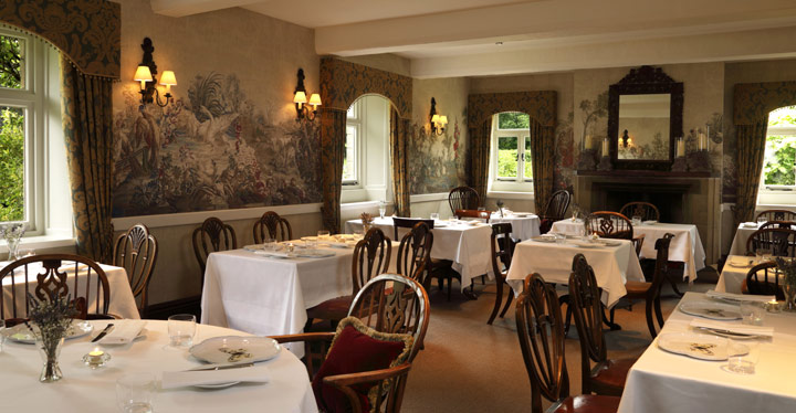 The Yorke Arms restaurant inside