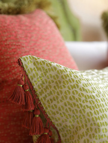 Rhubarb cushions