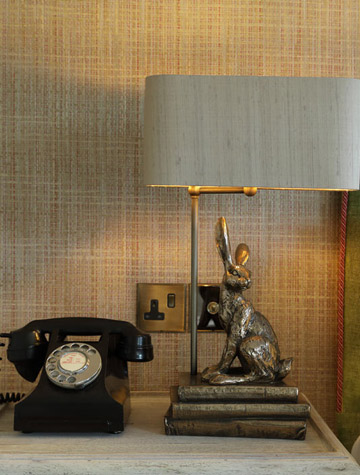 Telephone and lamp