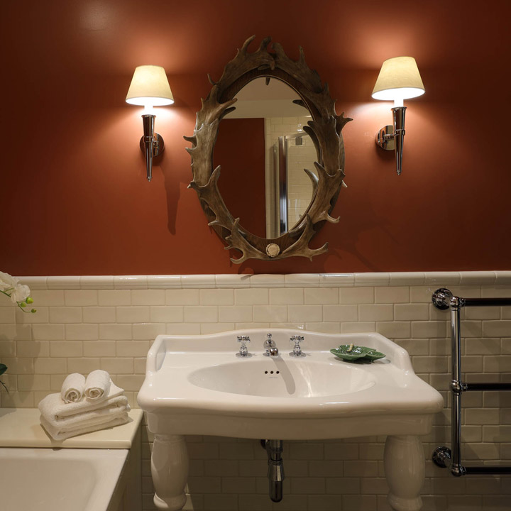 Antler bathroom