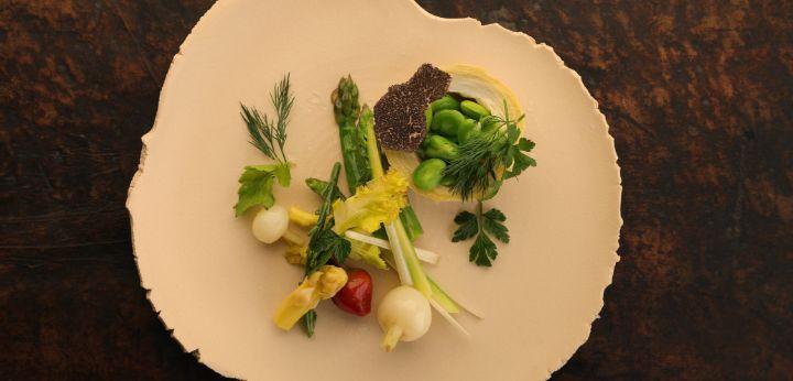 Vegetable salad truffle